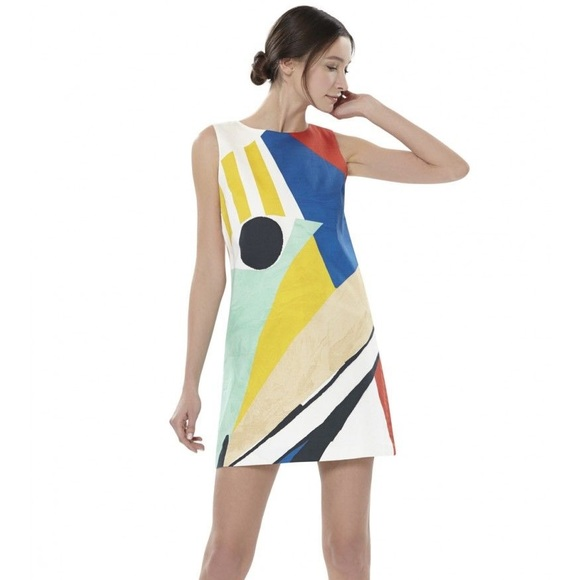 c8dd8eabac8 Alice + Olivia Dresses   Skirts - Alice + Olivia Clyde Dress in Colorblock  Graphic